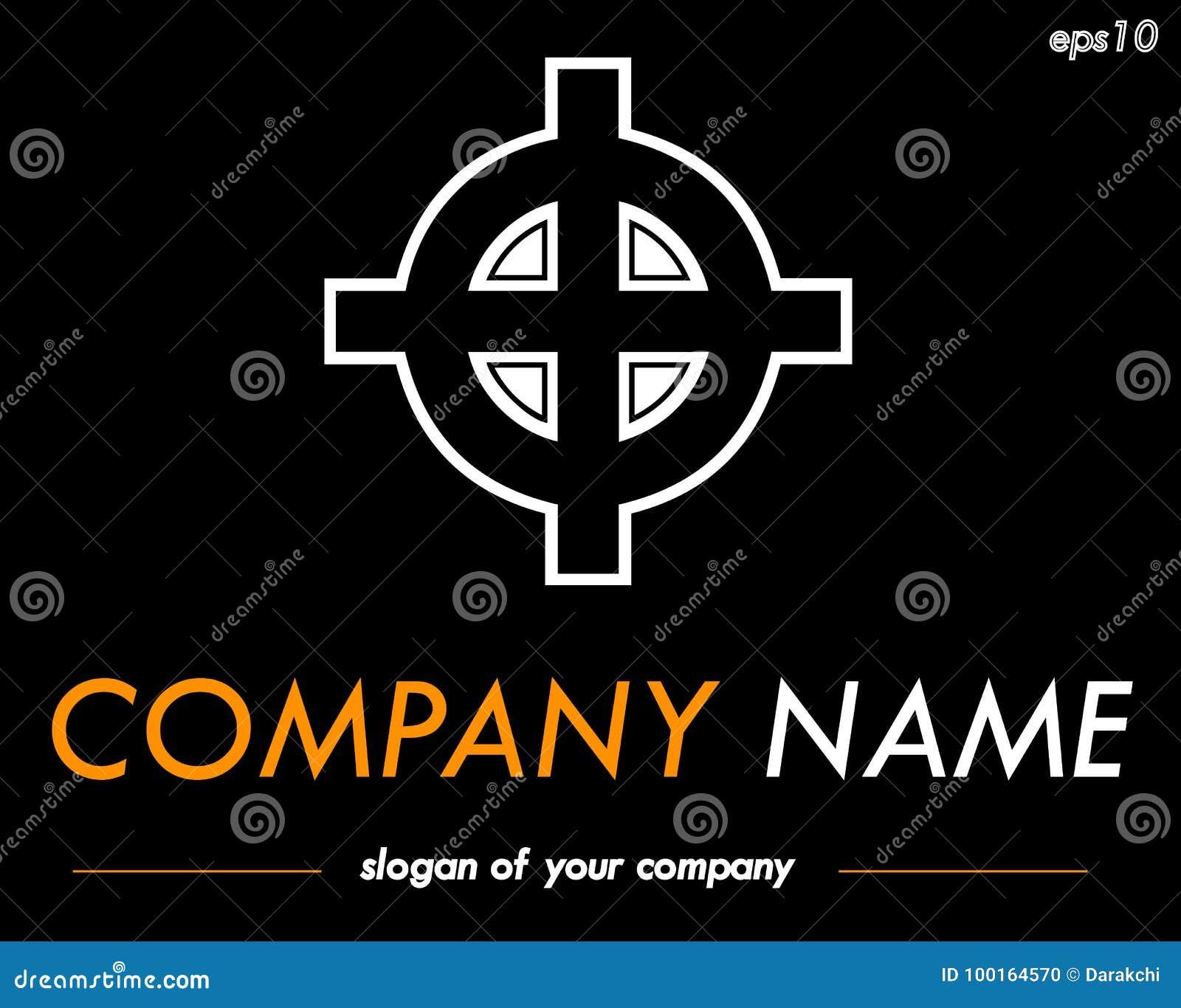 Celtic Cross Vector Logo Template Ready Logotype For A Company