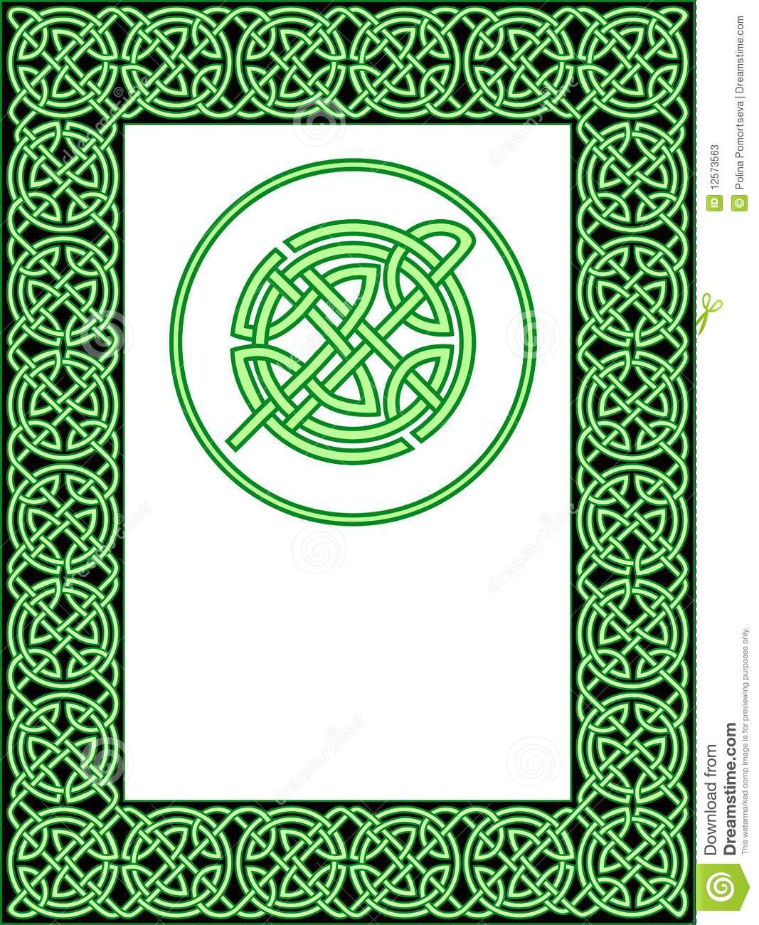 celtic frame pattern stock vector  image of pattern