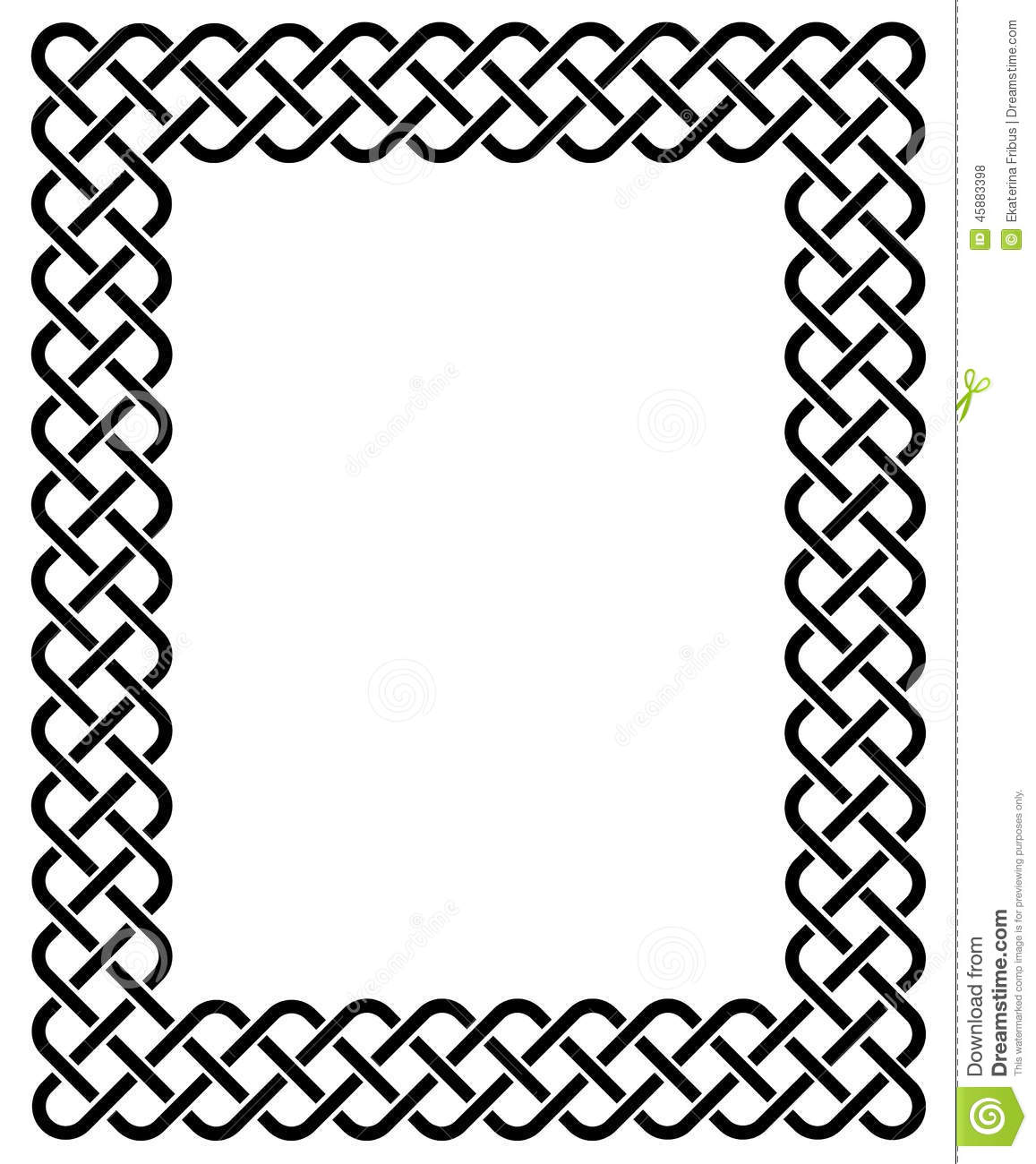 celtic frame stock vector illustration of interlaced 45883398 rh dreamstime com celtic pattern border vector celtic border vector free