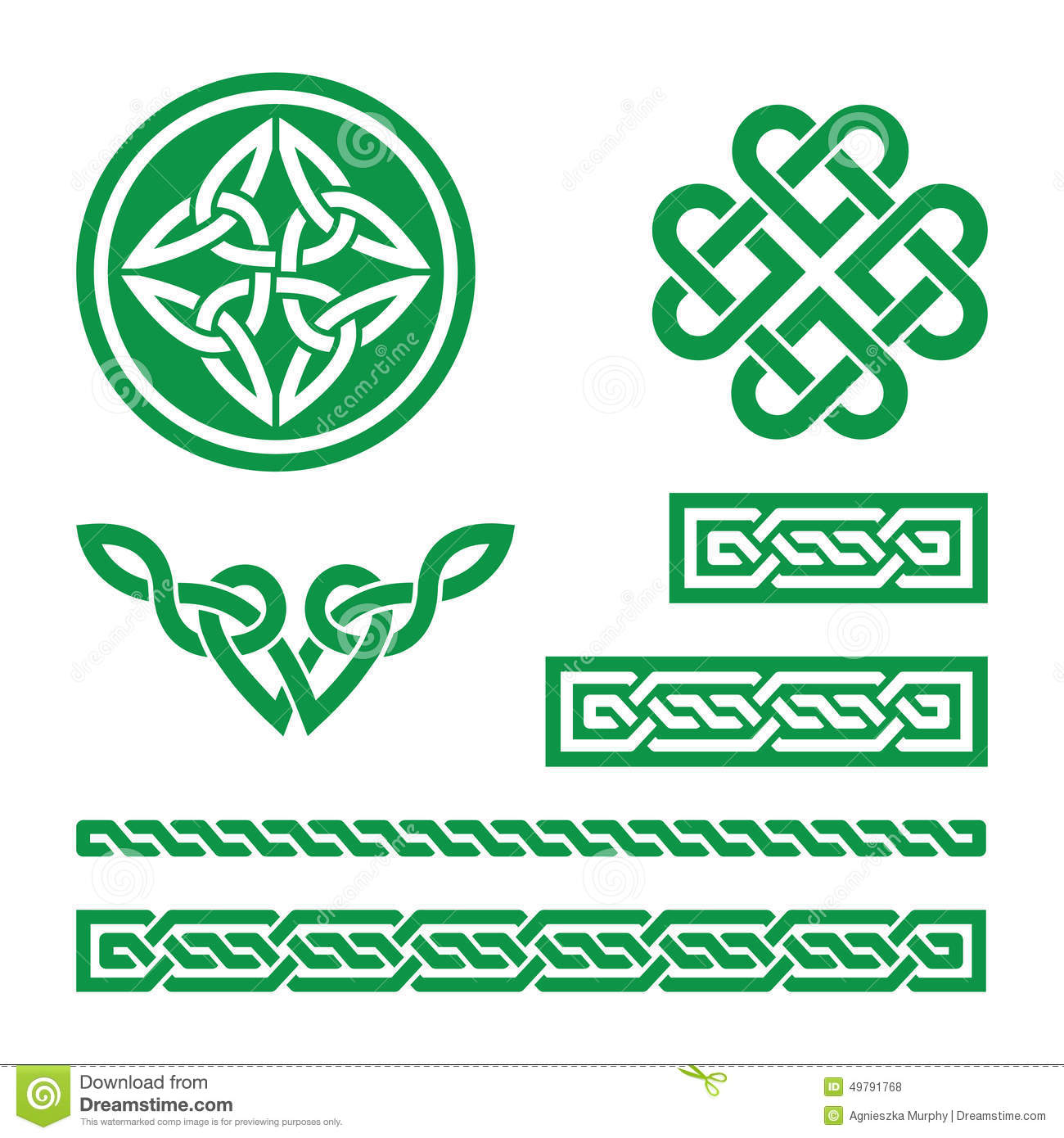 celtic green knots braids and patterns vector stock. Black Bedroom Furniture Sets. Home Design Ideas