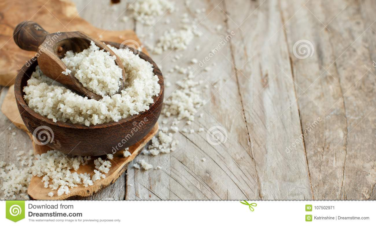 Celtic Grey Sea Salt From France Stock Image - Image of