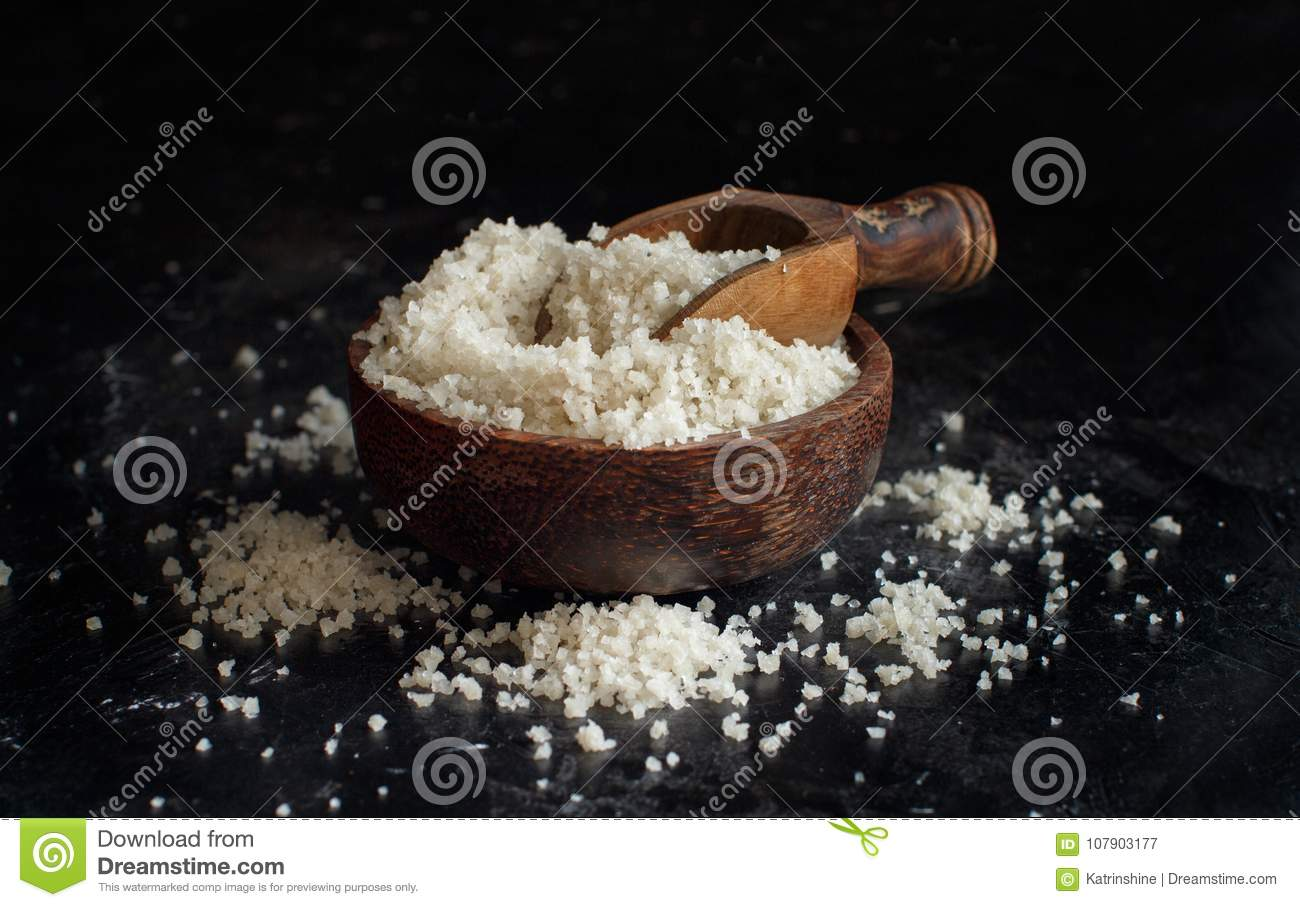 Celtic Grey Sea Salt From France Stock Image - Image of pile