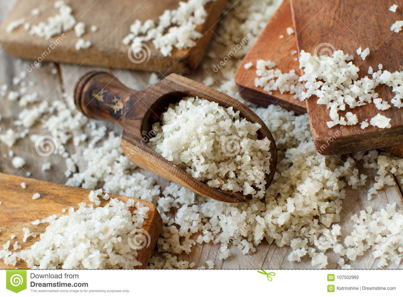 Celtic Grey Sea Salt From France Stock Photo - Image of