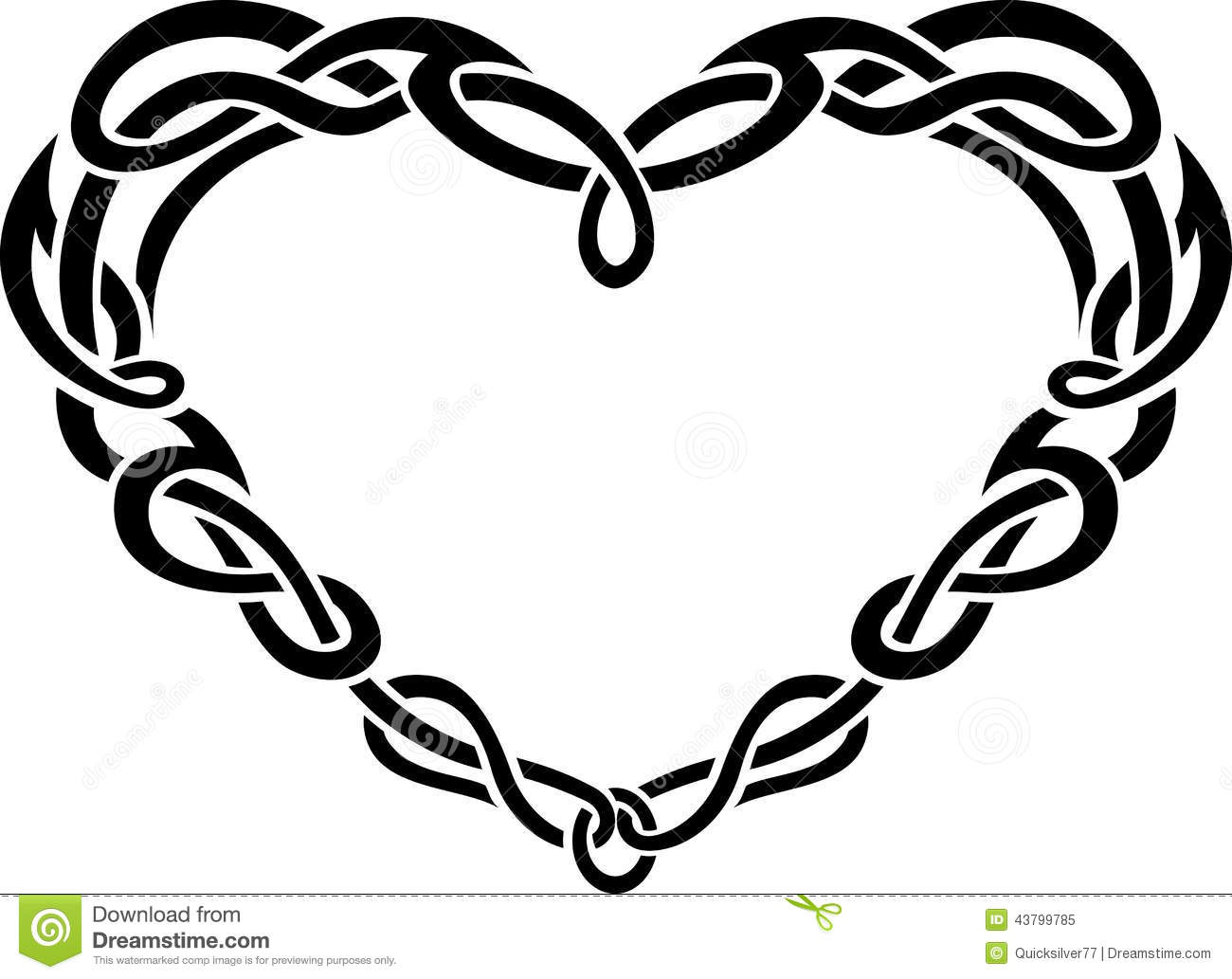 Celtic Heart Border Stock Illustration - Image: 43799785