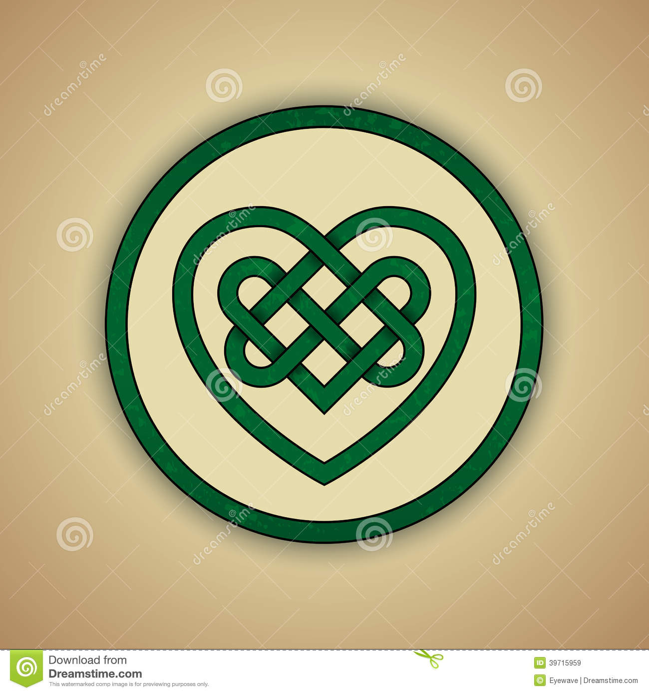 Celtic Heart Knot Symbol Of Love Stock Vector Illustration Of