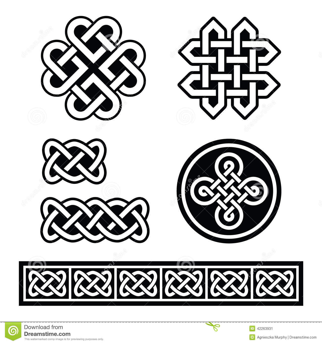 Celtic Irish Patterns And Braids Stock Illustration Illustration