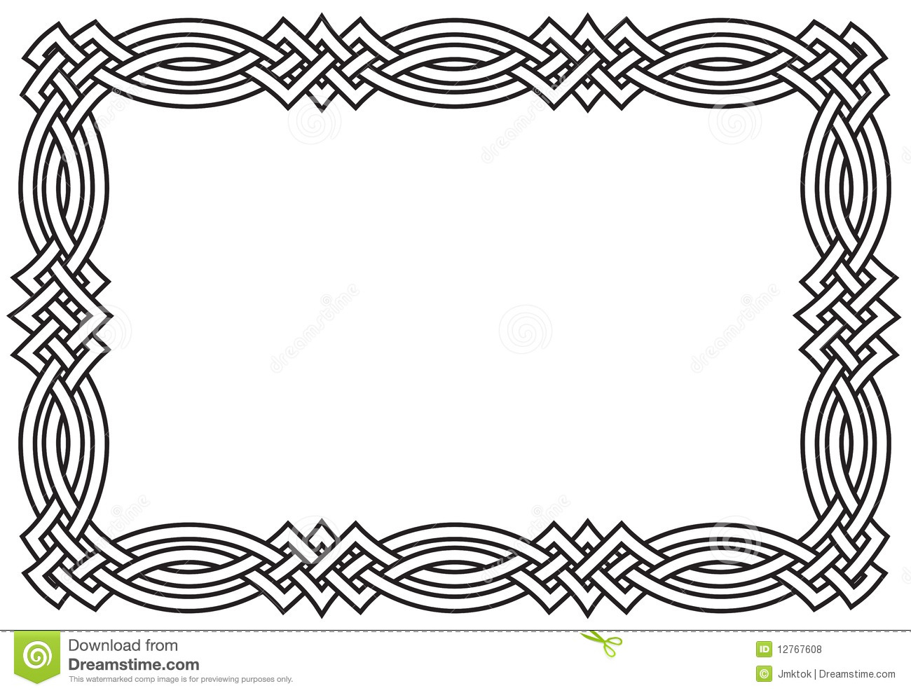 Retro intertwining border for St. Patrick's Day - the woven celtic ...