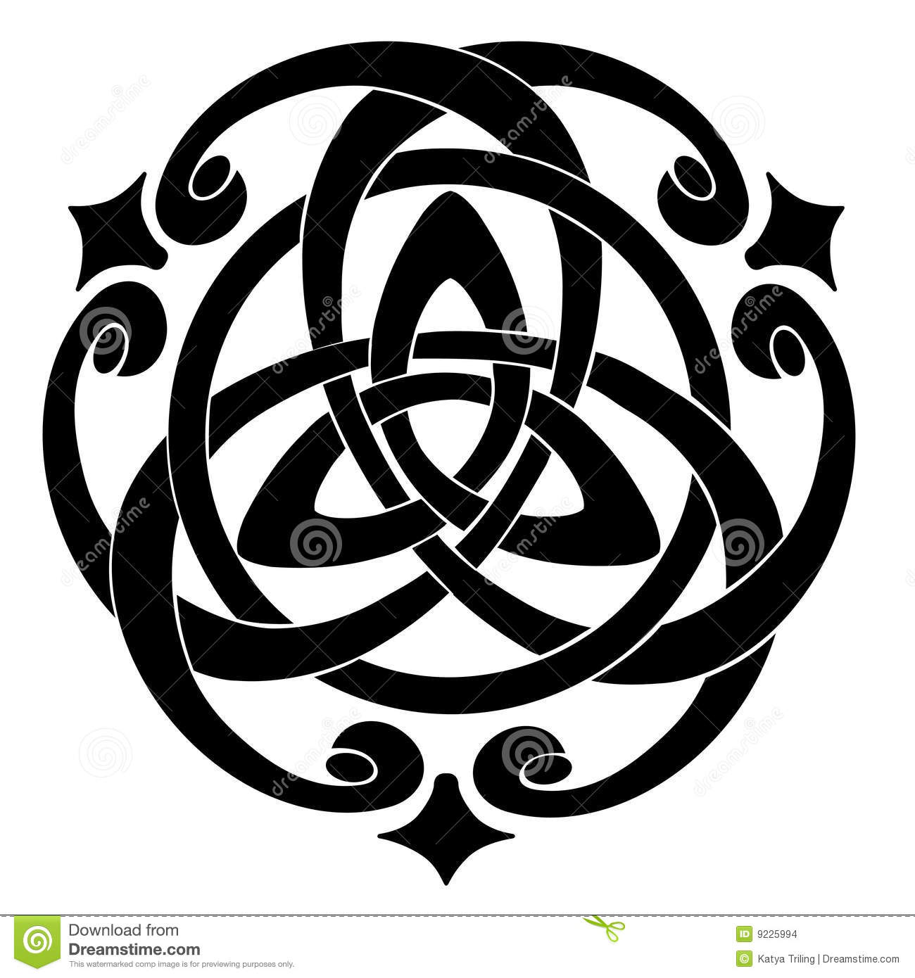 Celtic Knot Motif Stock Vector Illustration Of Repetition 9225994
