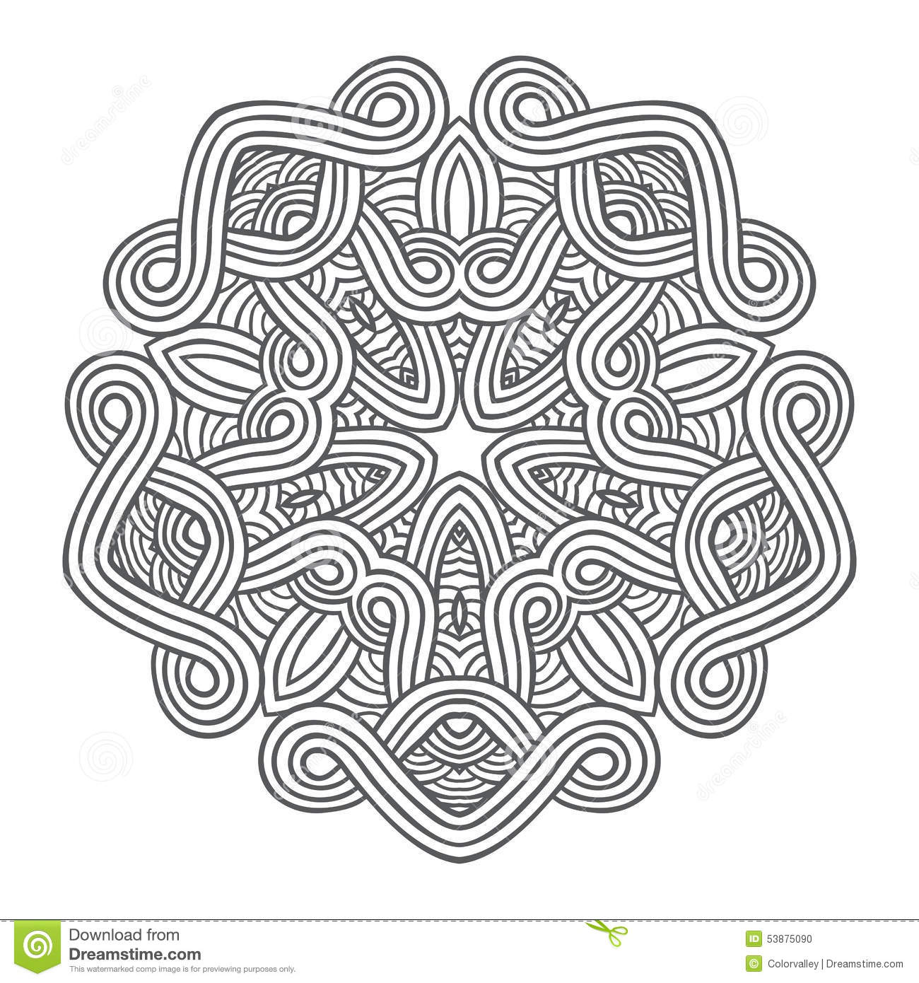 Celtic Knot Pattern Card Mandala Amulet Stock Vector
