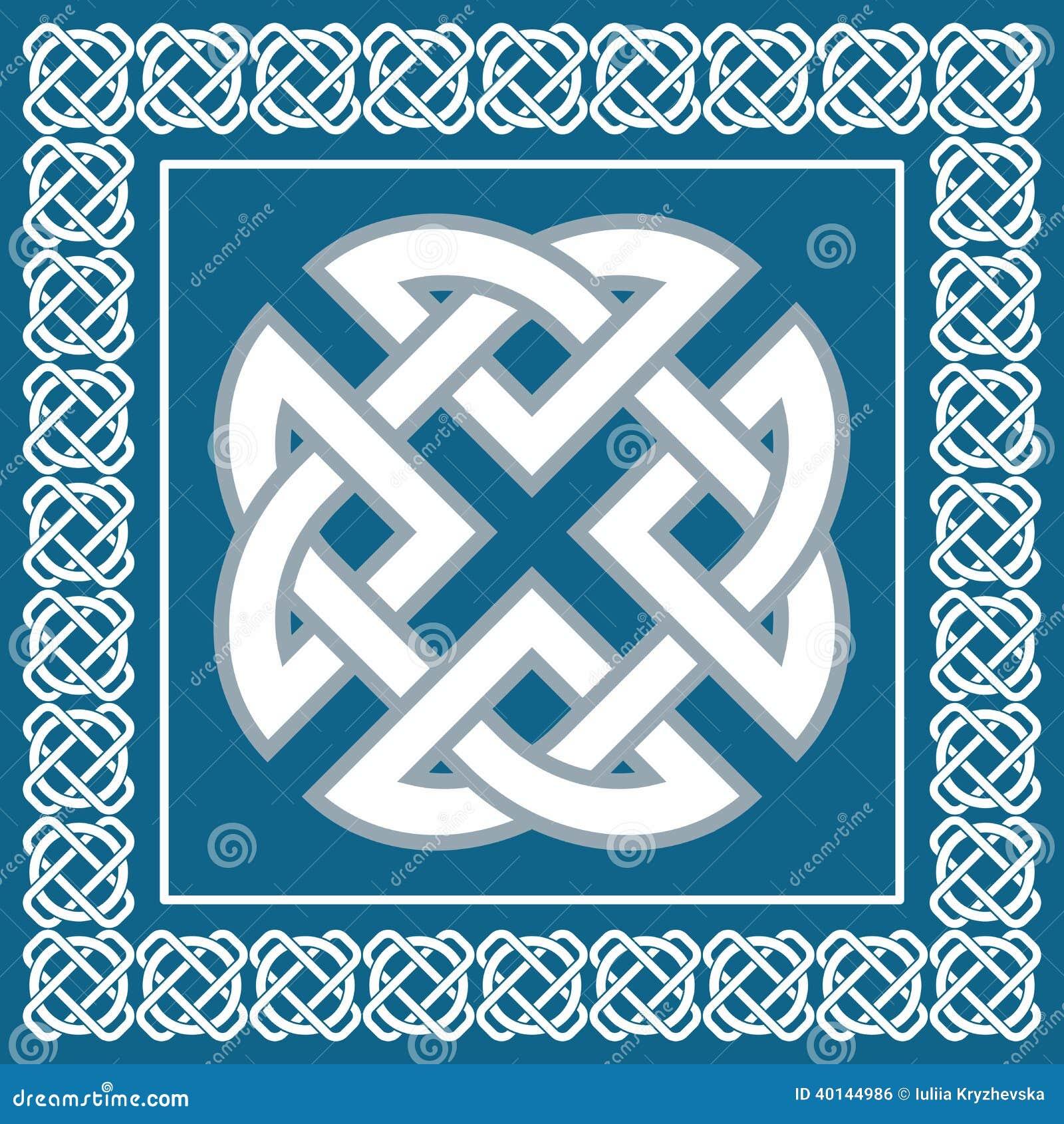 Celtic Knotsymbol Represents Four World Elementsvector Stock