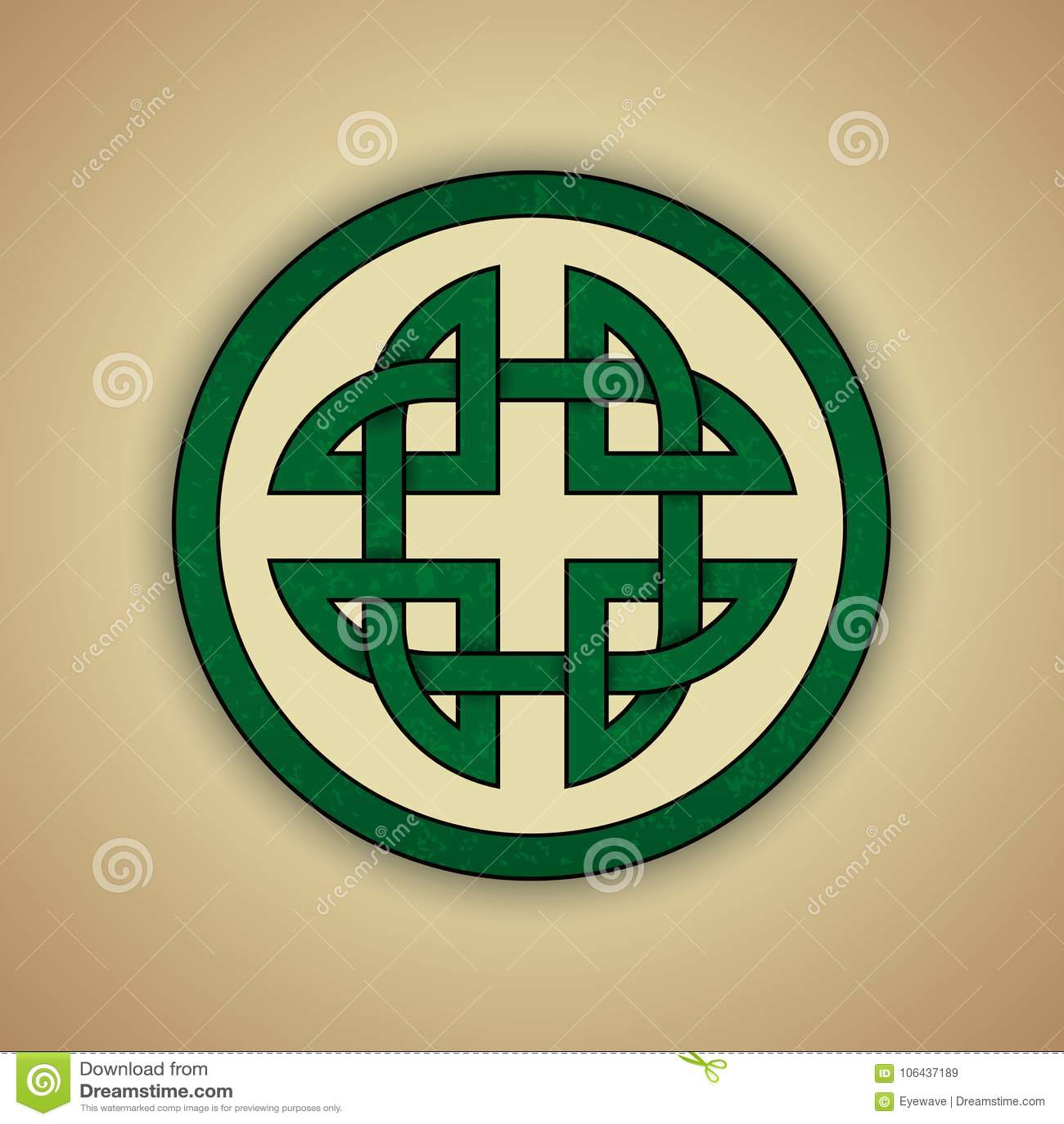 Celtic Knot Symbol Of Strength Stock Vector - Illustration ...