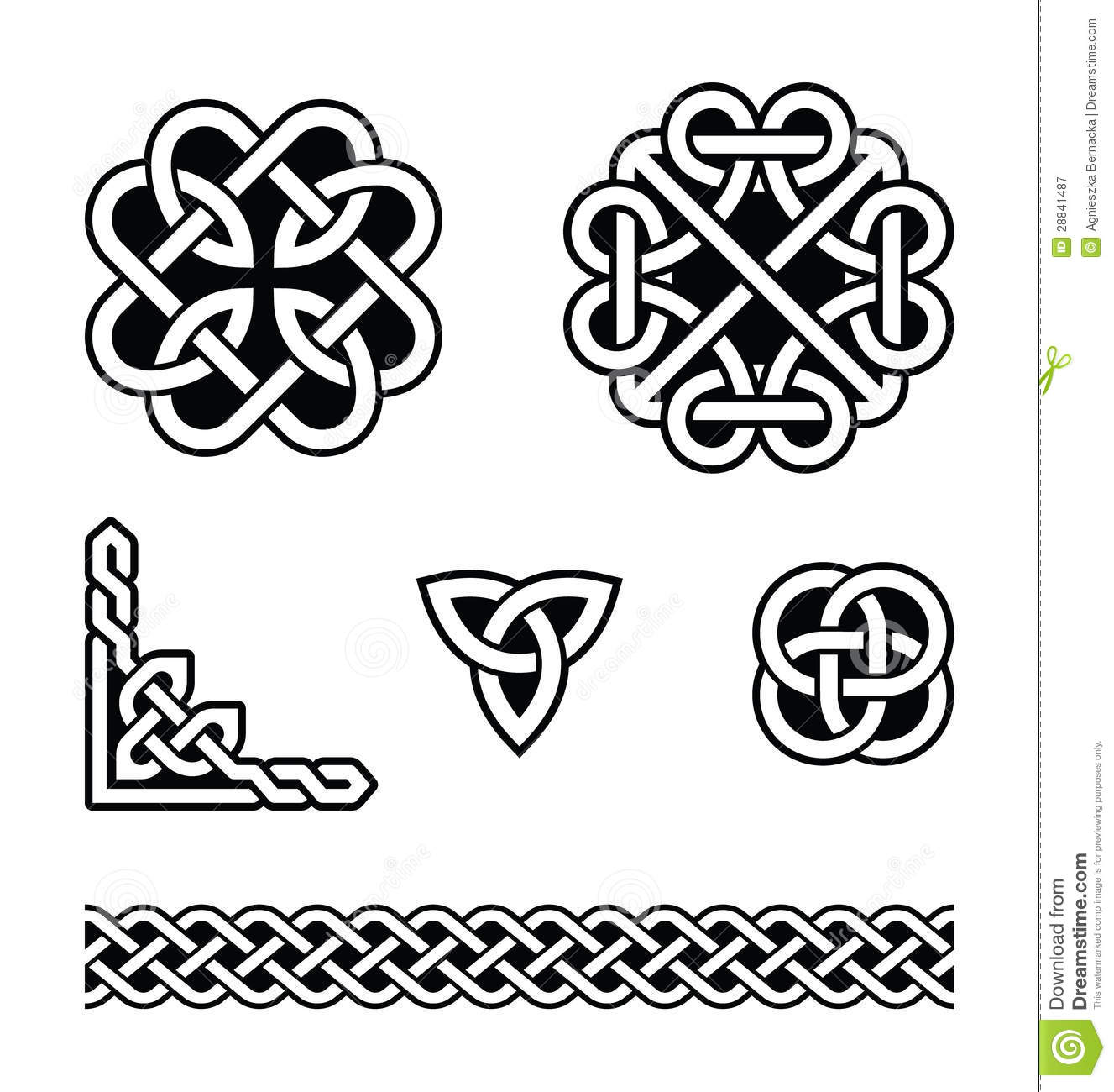 Celtic Knots Patterns Stock Vector Illustration Of British 28841487