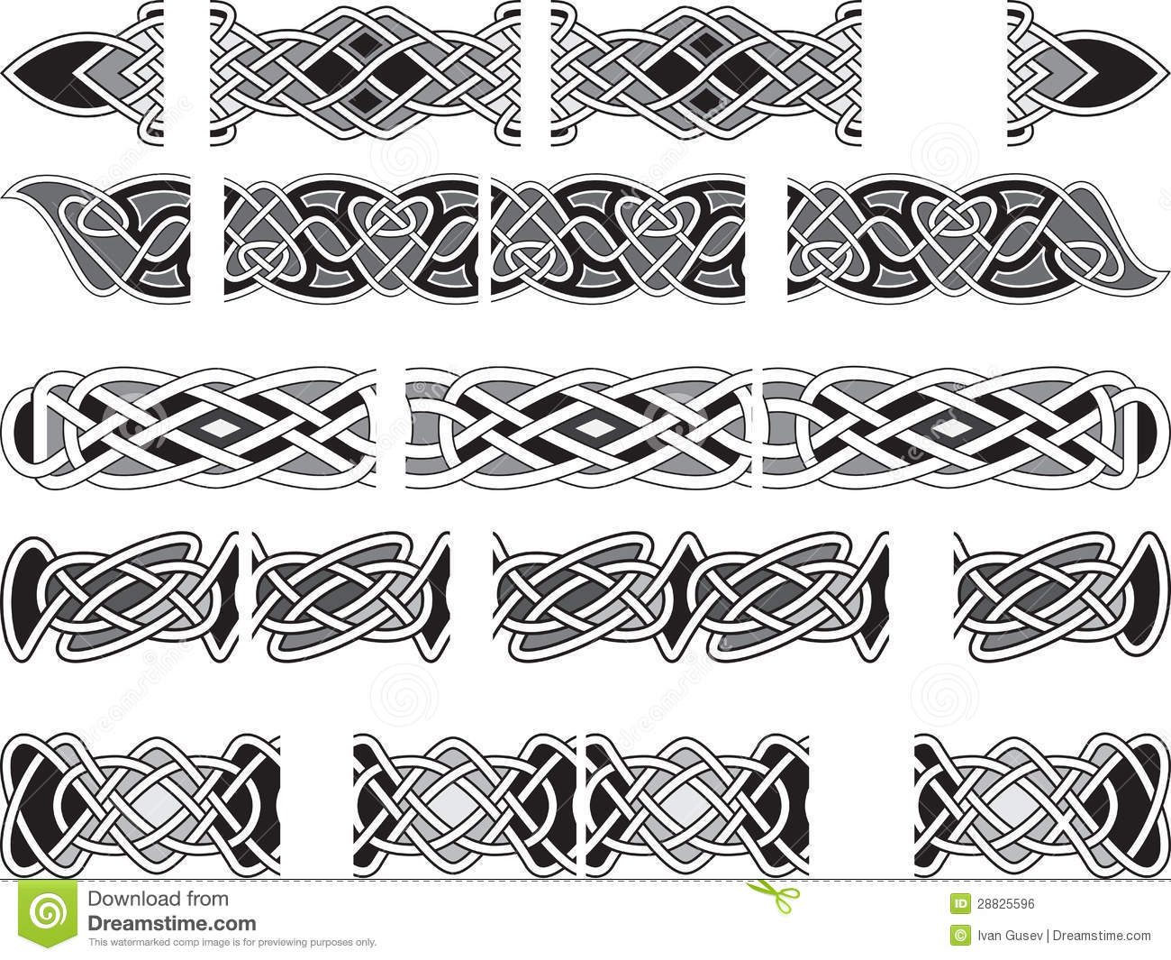 Celtic Medieval Ornaments Royalty Free Stock Image - Image ...