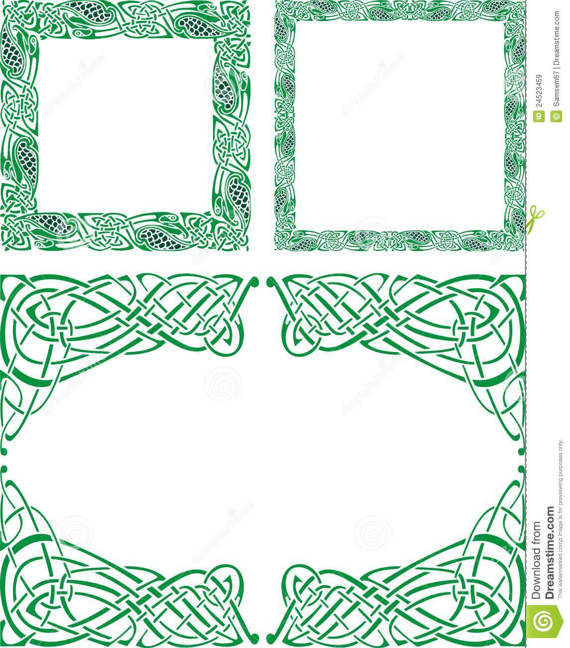Celtic Ornament Borders Royalty Free Stock Images Image
