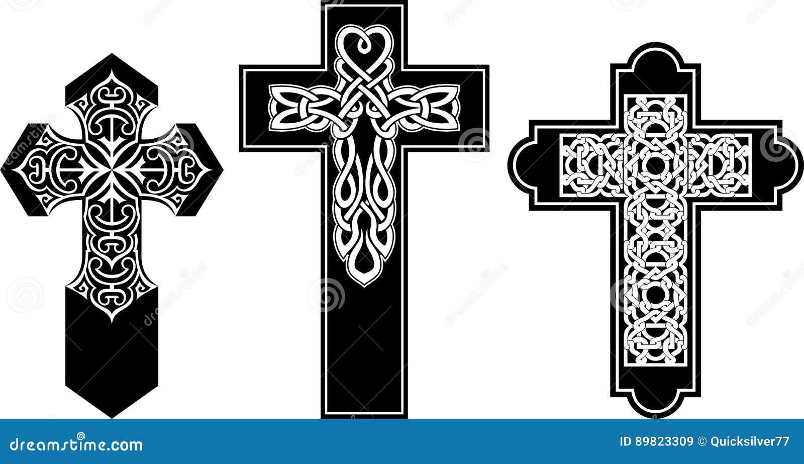 Celtic pattern crucifix set stock image image of celtic royalty free stock photo biocorpaavc Gallery