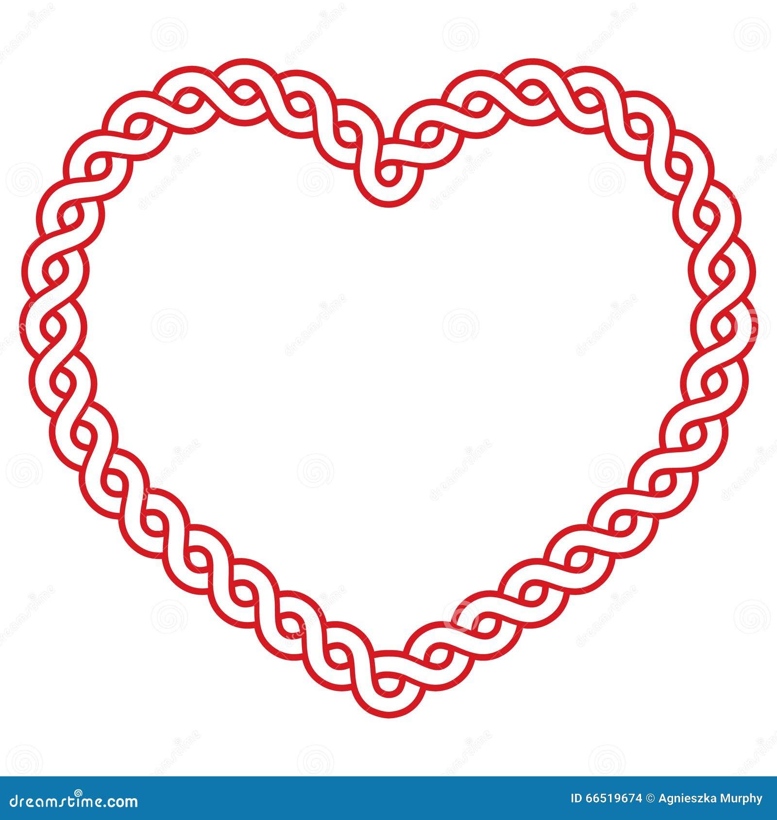 Celtic Pattern Red Heart Shape
