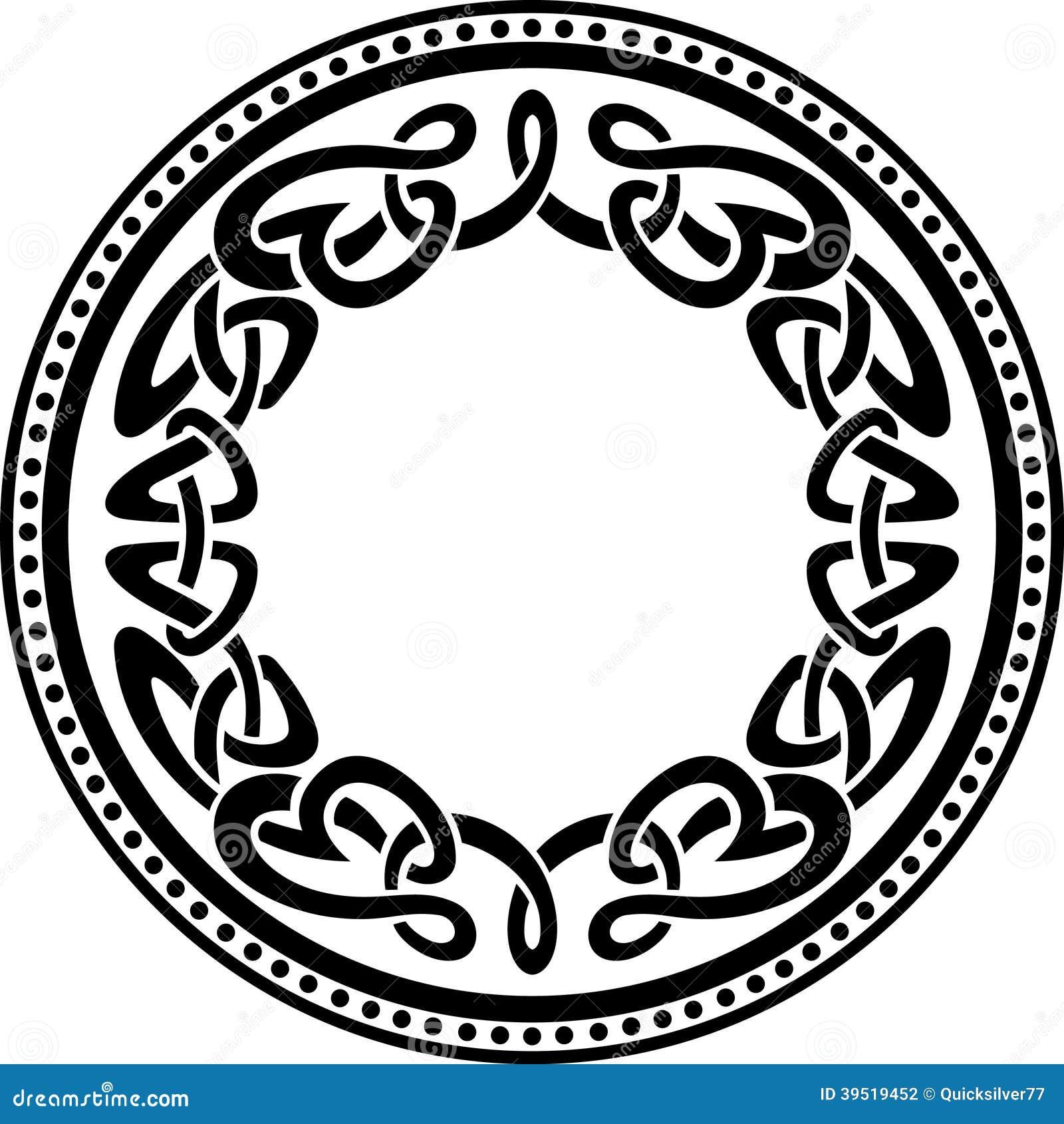 Oval Celtic Knot Border Celtic round pattern borderOval Celtic Knot Border