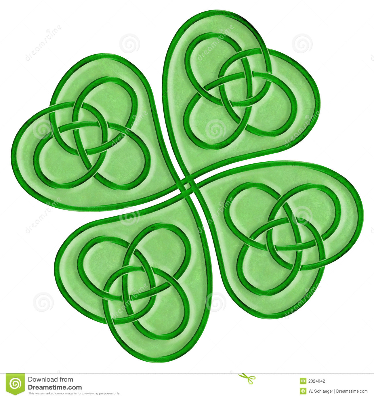 Celtic Cross With Shamrock Celtic shamrock stock