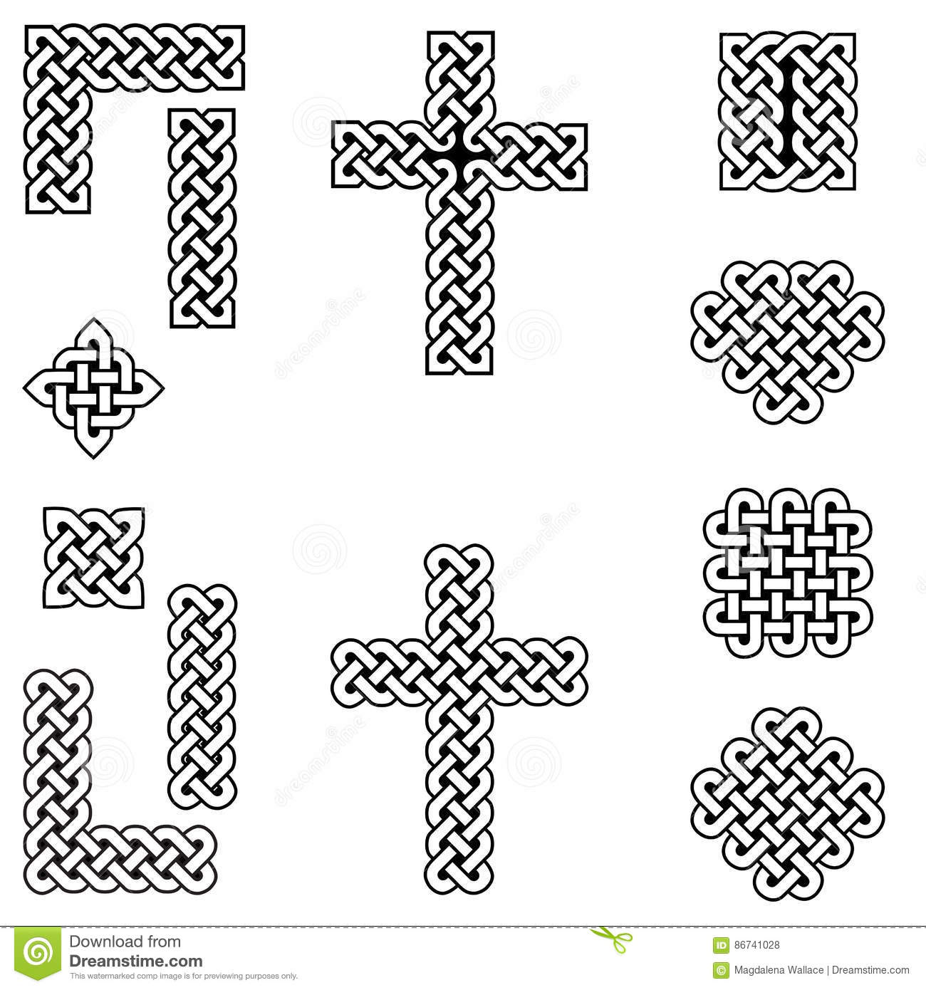 Curvy stock illustrations 10104 curvy stock illustrations celtic style endless knot symbols including border line heart cross curvy squares biocorpaavc Gallery