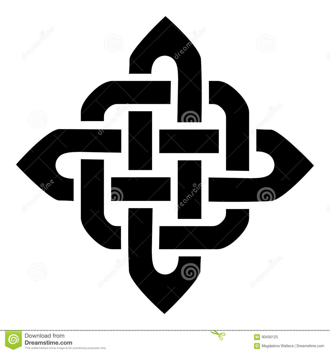 Celtic style sqaure element based on eternity knot patterns in celtic style sqaure element based on eternity knot patterns in black on white background inspired by irish st patrcks day buycottarizona Image collections