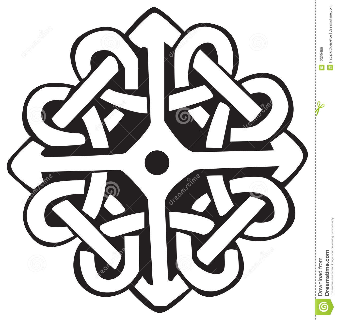 Celtic symbol stock vector illustration of celtic black 12329459 celtic symbol biocorpaavc