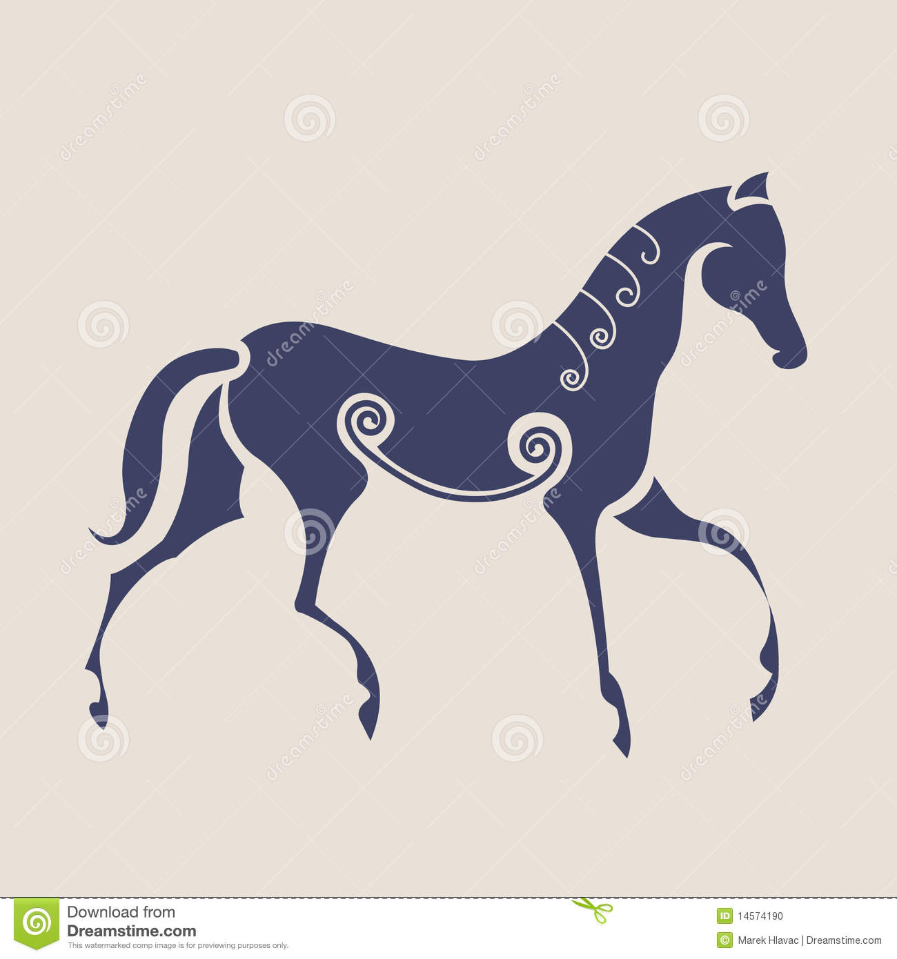 Celtic symbol of horse