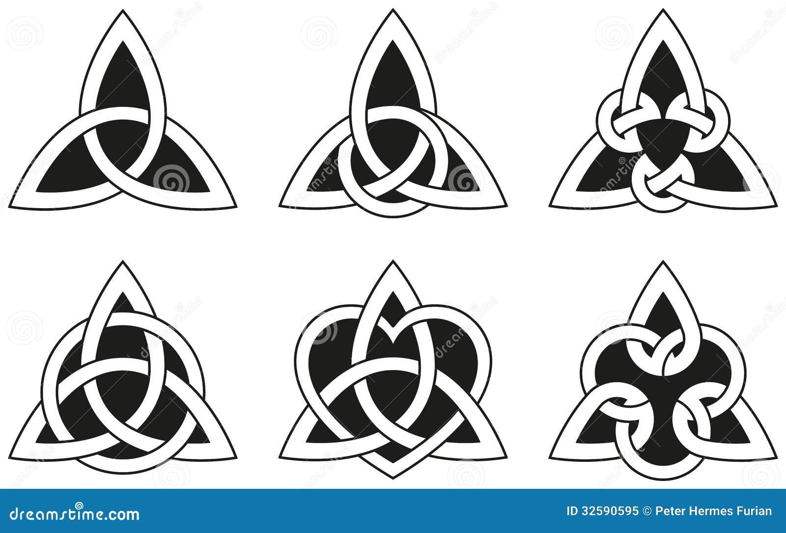 Celtic Triangle Knots Royalty Free Stock Photo Image 32590595