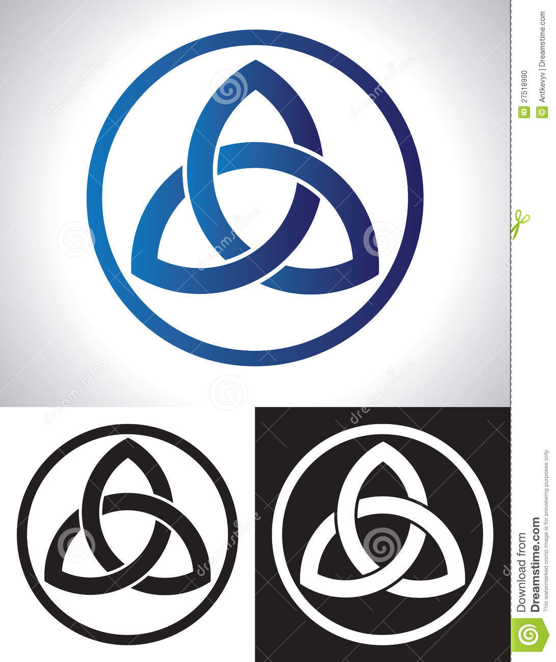 Celtic Trinity Knot Vector stock vector. Image of infinity ...