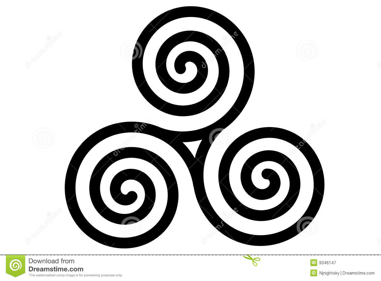 Celtic Triple Spiral Royalty Free Stock Photography - Image: 9346147