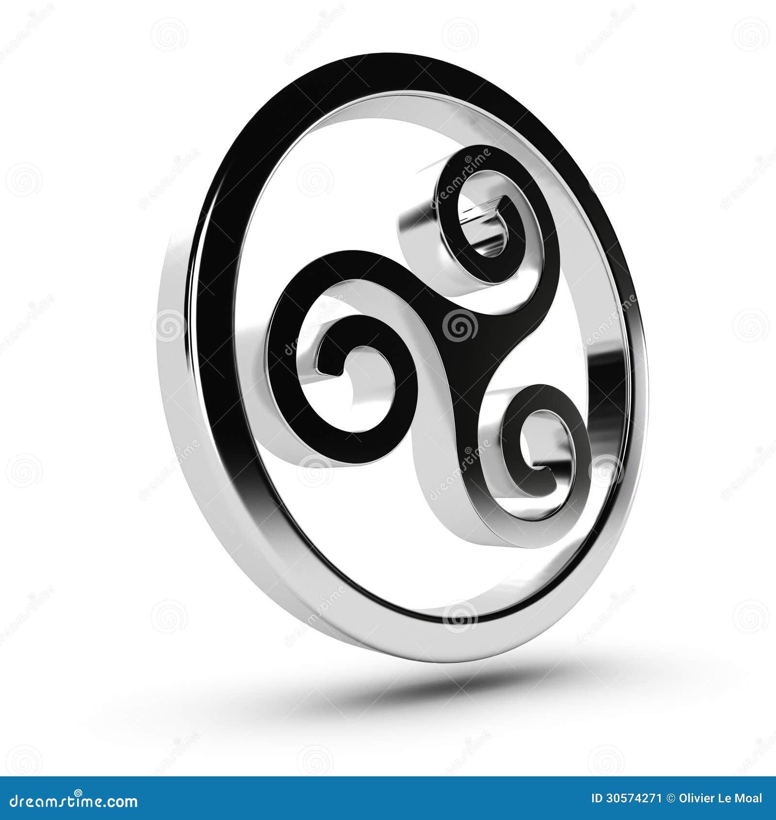 Celtic triskelion stock illustration illustration of triskel celtic triskelion buycottarizona Images