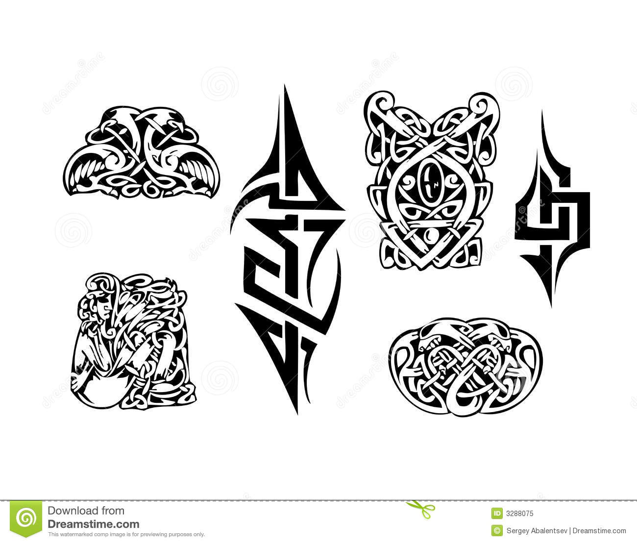 Tribal Banner Tattoo Designs