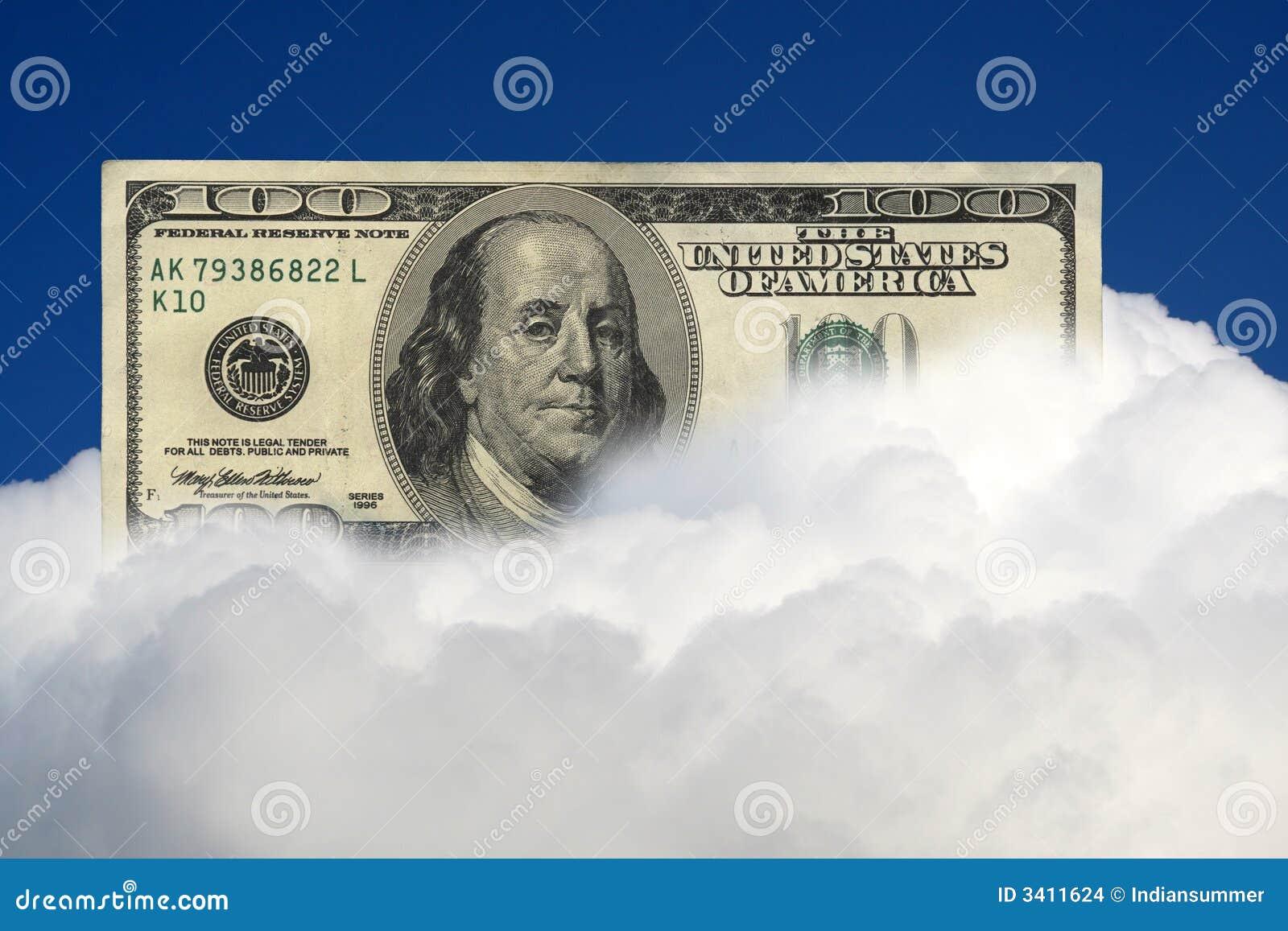 Cem dólares de nota de banco