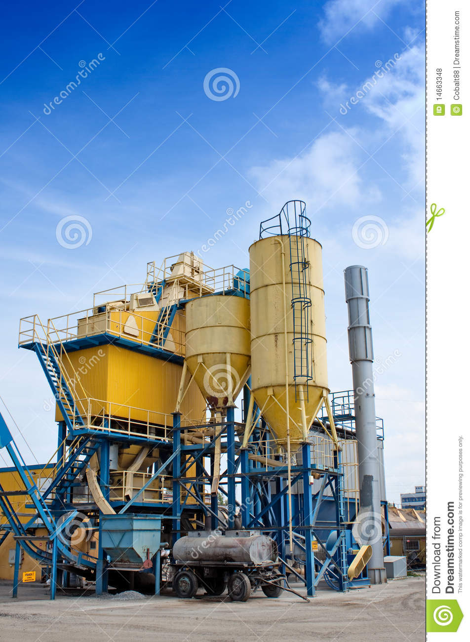 Cement Factory Stock Photo. Image Of Sand, Gravel, Tube