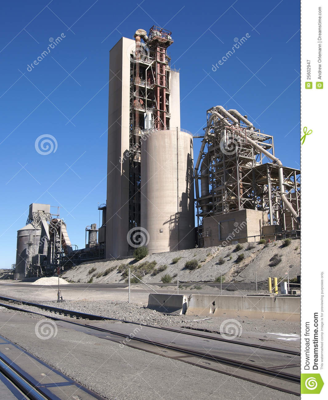 Cement Manufacturing Plants United States : Cement factory royalty free stock photography image