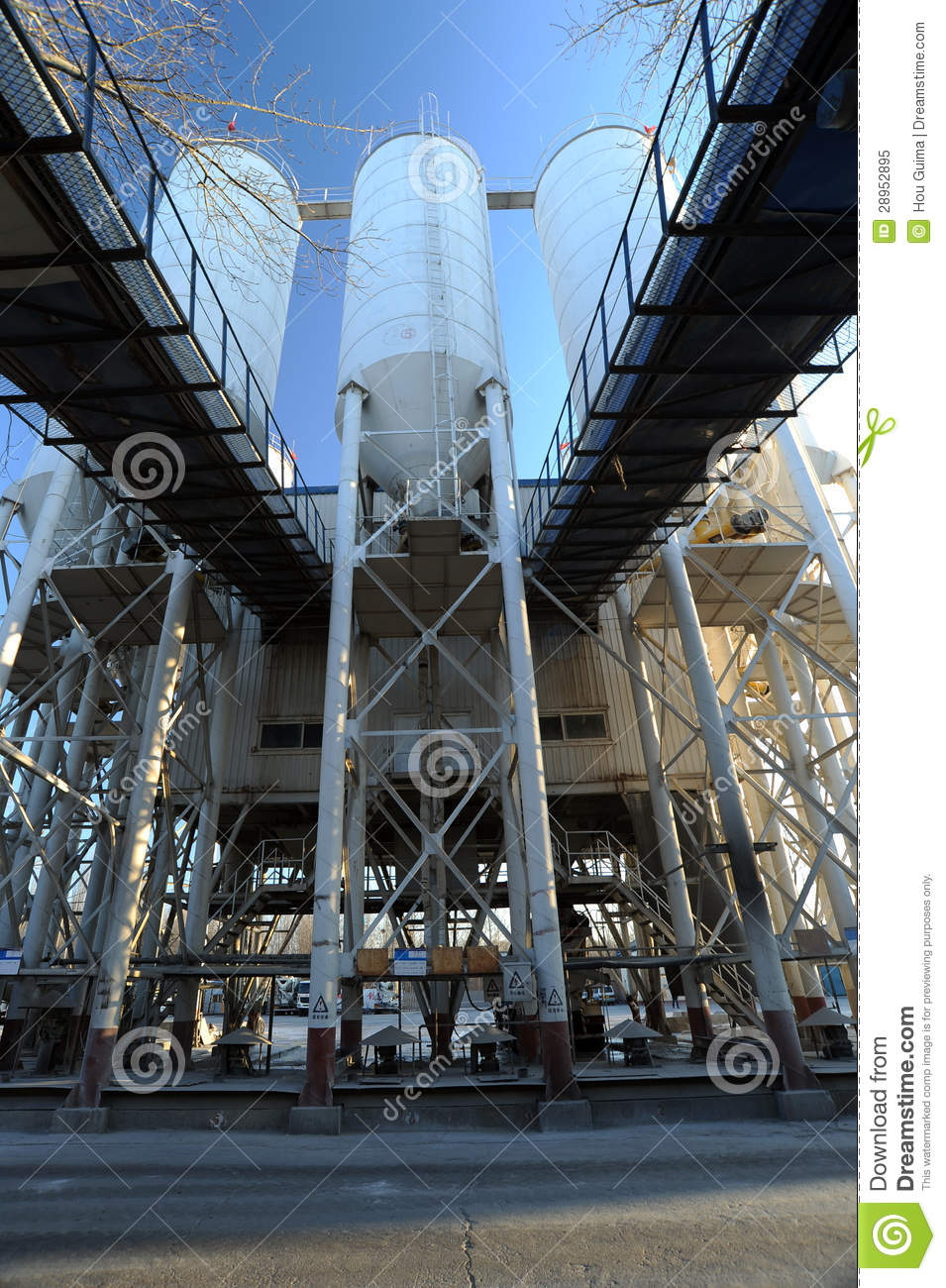 Cement Factory Stock Image. Image Of Building, Frame