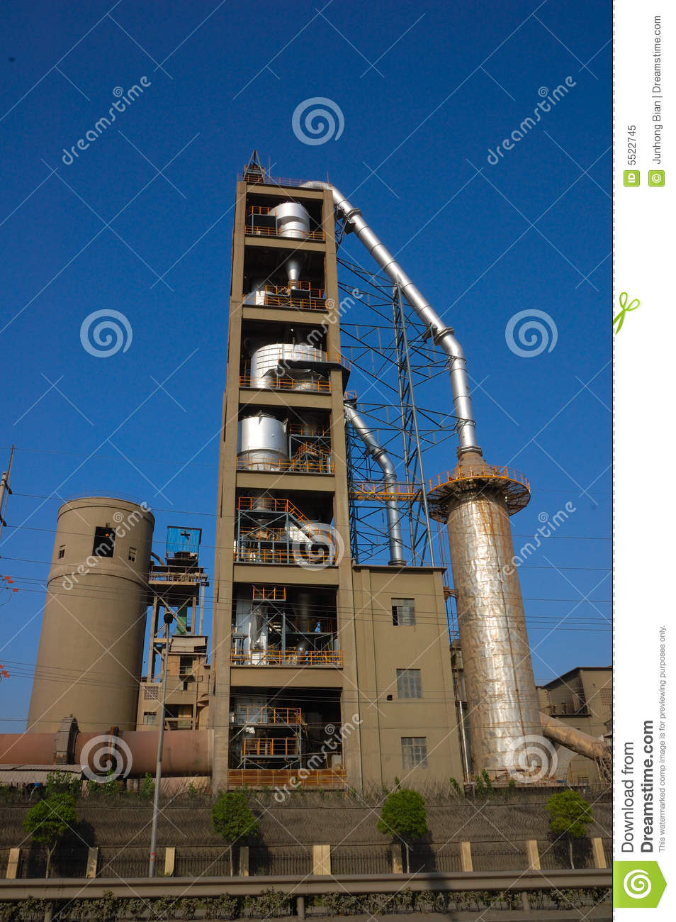 Cement Factory Stock Image. Image Of Dirt, Building