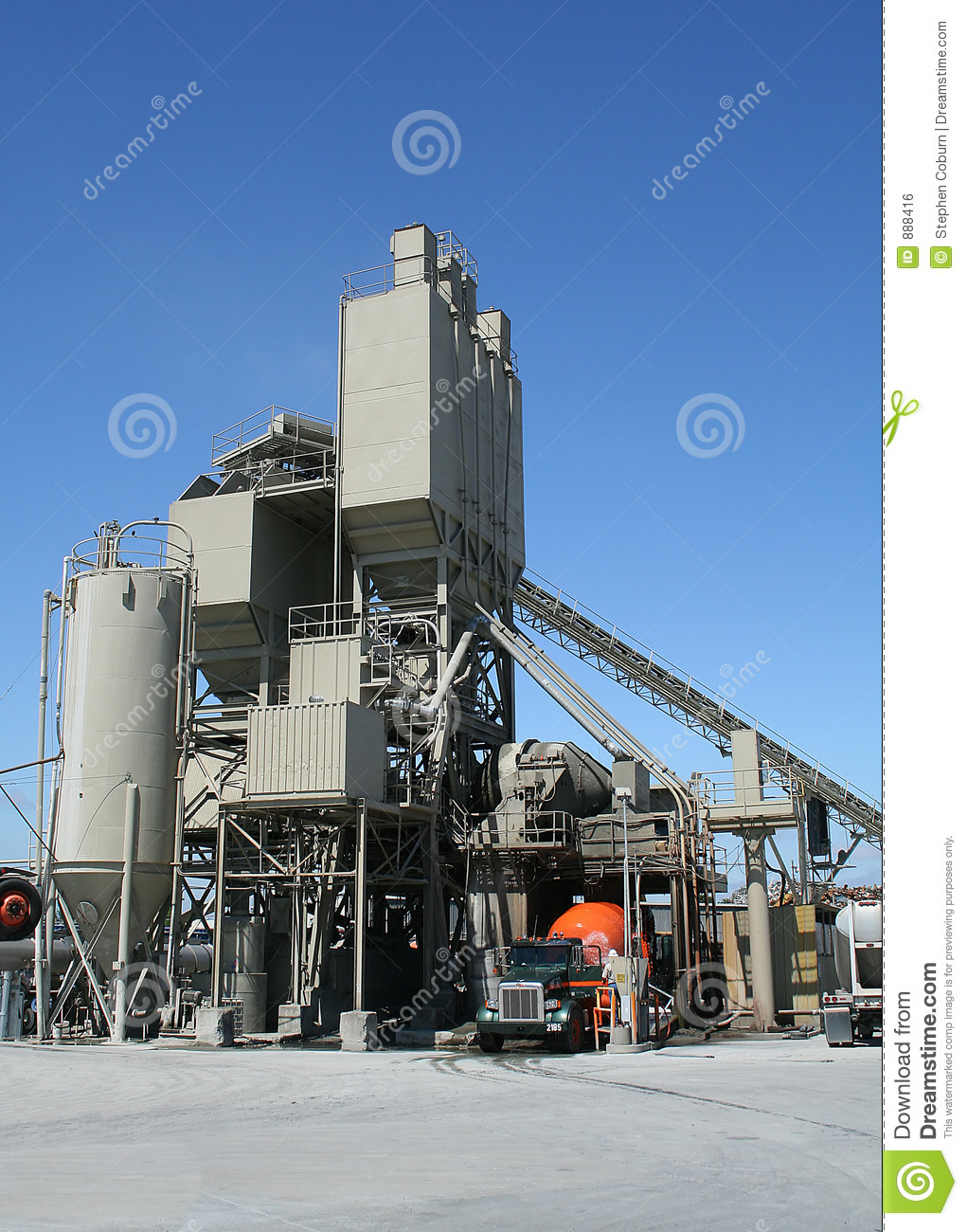 Cement Factory Stock Photo. Image Of Concrete, Gravel