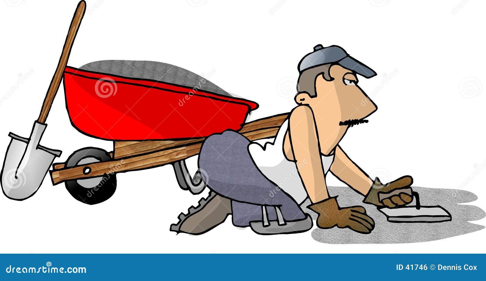 cement man stock illustration illustration of occupation 41746 rh dreamstime com clipart concrete truck concrete clipart png