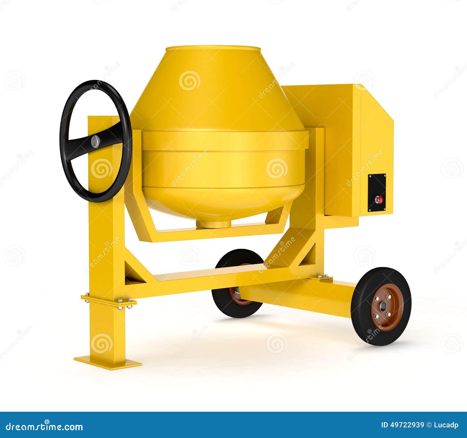 Concrete Mixing Animation : Cement mixer stock illustration image