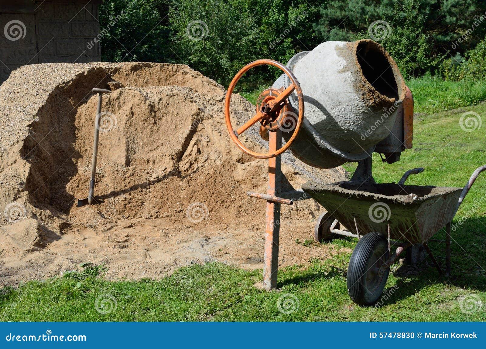 Concrete Mixing Animation : Cement mixer stock photo image