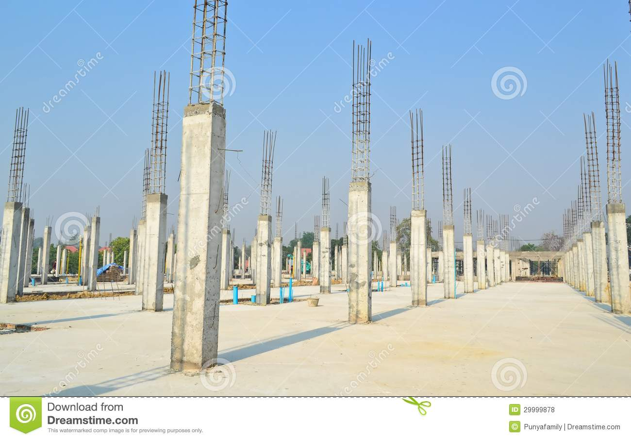 Cement Pillar In Construct Site Stock Photo Image 29999878