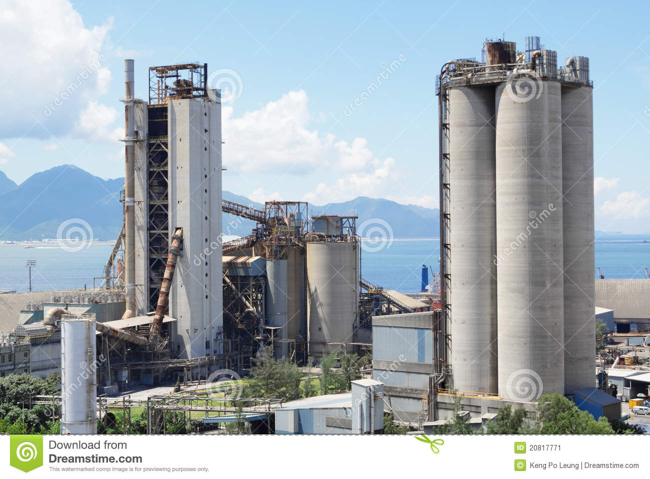 Cement Manufacturing Plants United States : Cement plant stock image