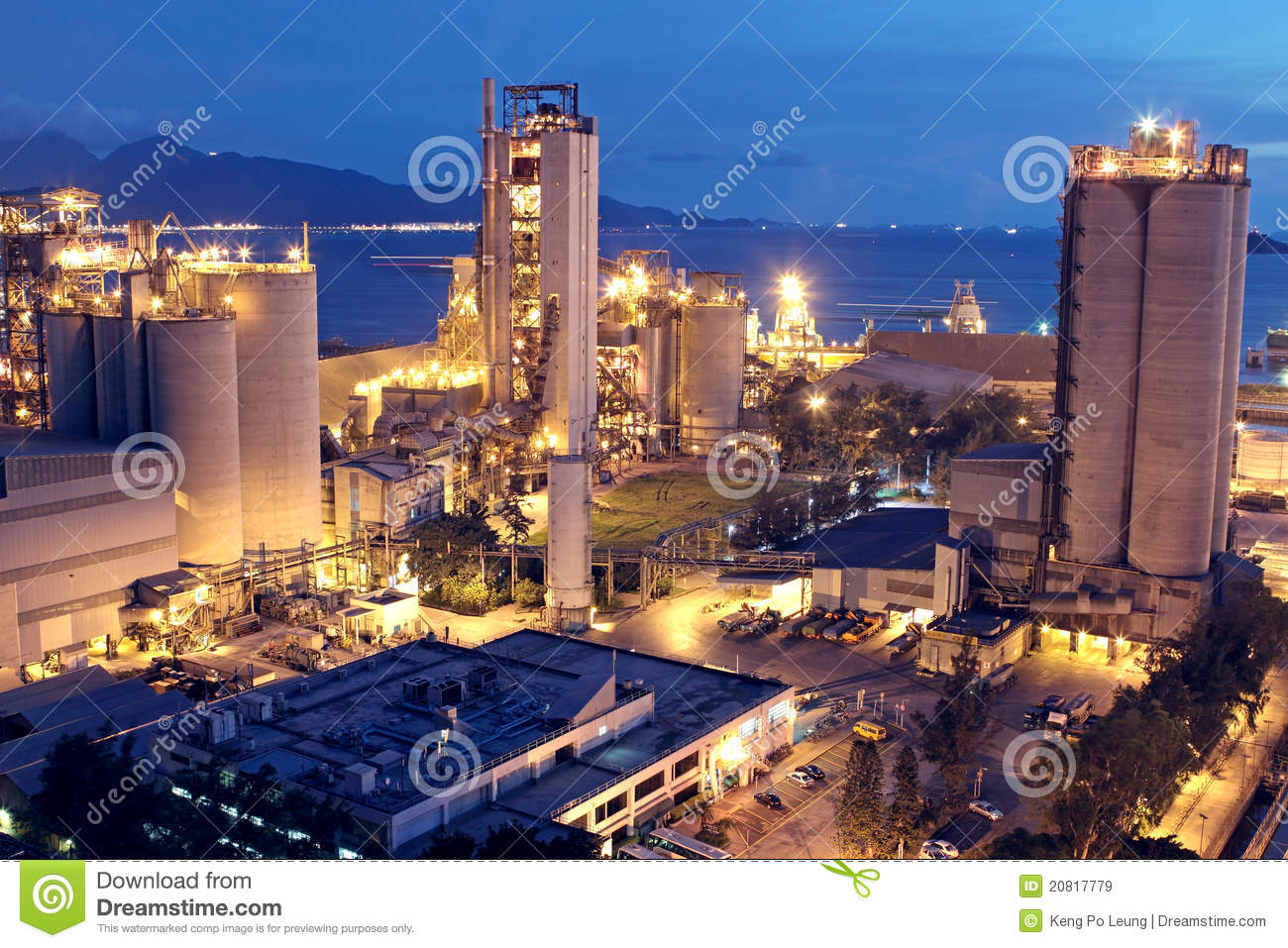 Biggest Concrete Plant In The Usa : Cement plant royalty free stock images image