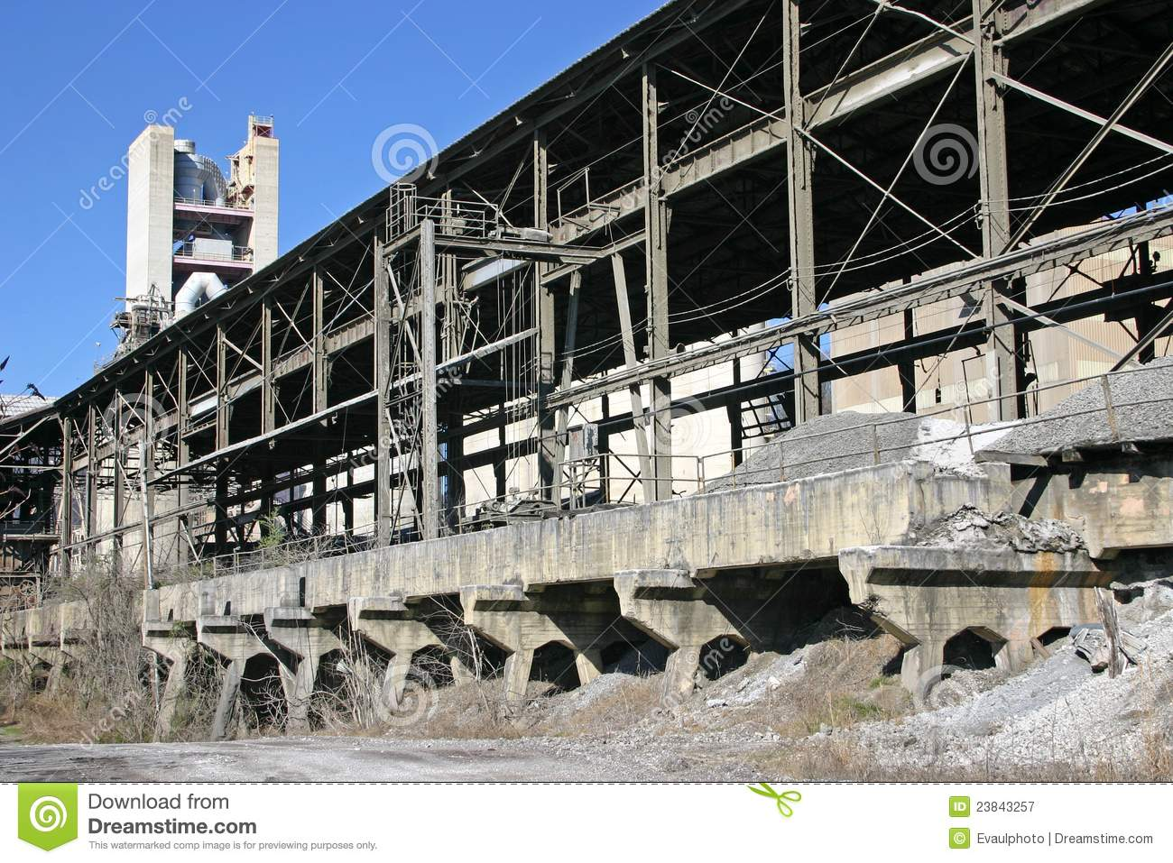 Cement Manufacturing Plants United States : Cement plant royalty free stock photography image