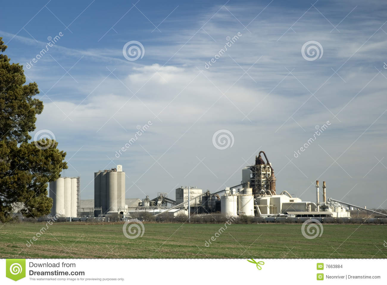 Cement Manufacturing Plants United States : Cement plant stock images image
