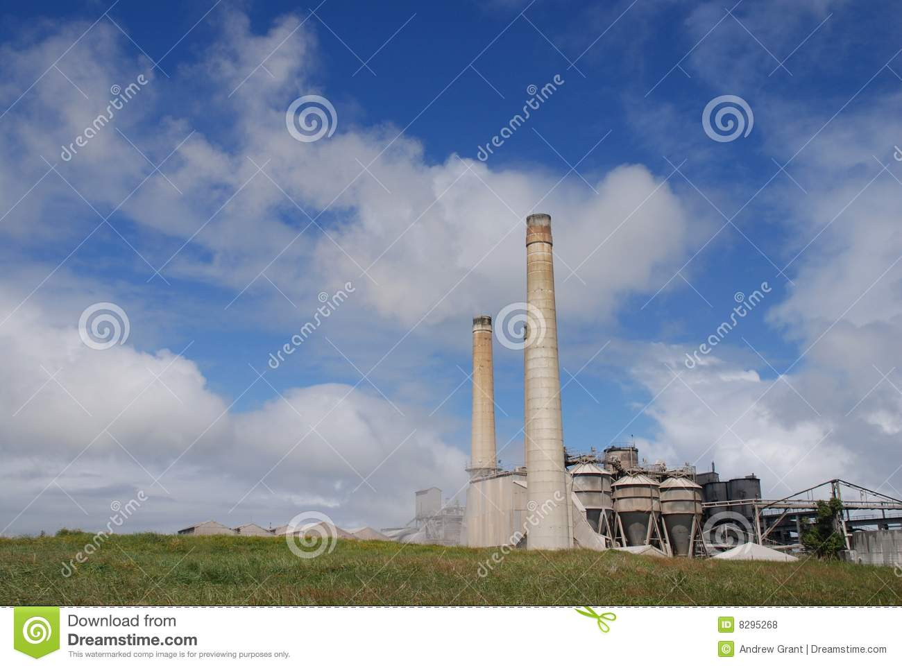 Cement Plant Structure : Cement plant stock photo image of concrete