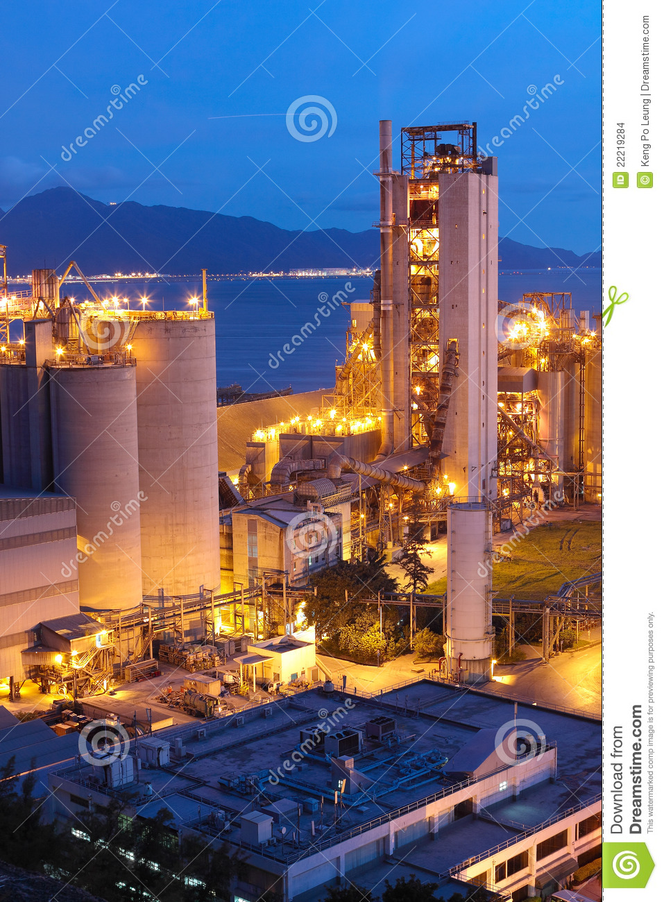 Cement Plant,Concrete Or Cement Factory, Heavy Industry Or