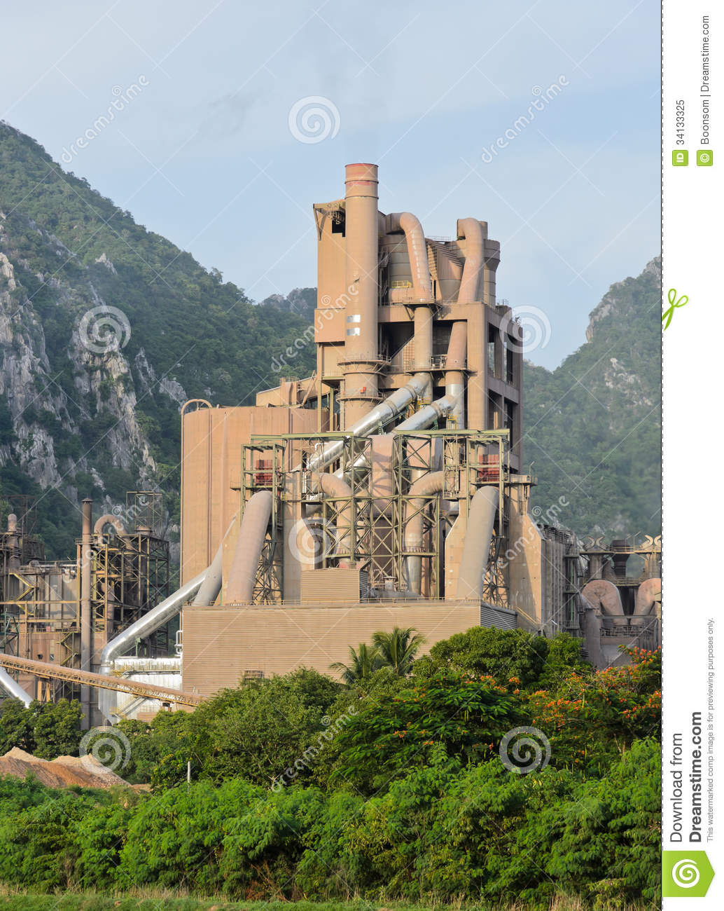 Idaho Cement Plants : Cement plant royalty free stock photo image