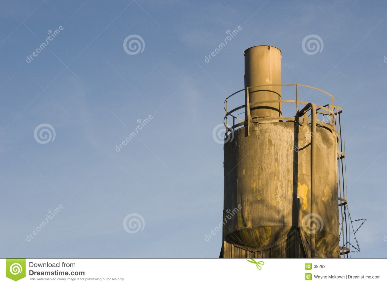 Cement Loading Plant : Cement plant loading hopper royalty free stock photos