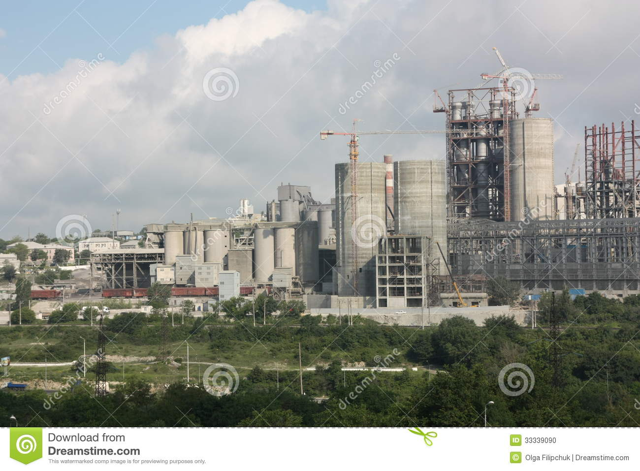 Cement Manufacturing Plants United States : Cement plant stock photo image